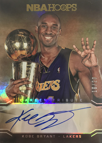 2017-18 Hoops Premium Factory Set Kobe Bryant Autograph