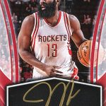 2017-18 Panini Instant Basketball Instant Access Autographs James Harden 25 Base Red