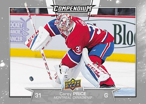 2017-18 Upper Deck Compendium Hockey Carey Price