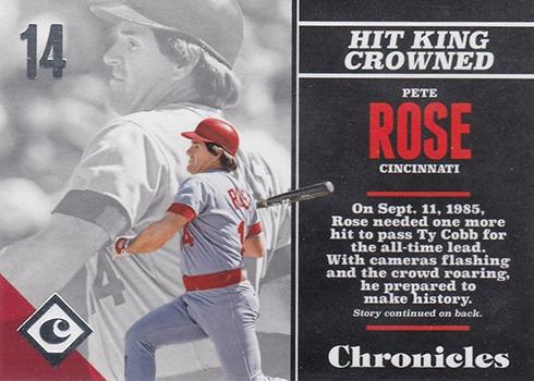 2017 Panini Chronicles Baseball Pete Rose