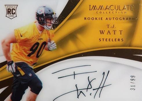 2017 Panini Immaculate Football Rookie Autographs T.J. Watt