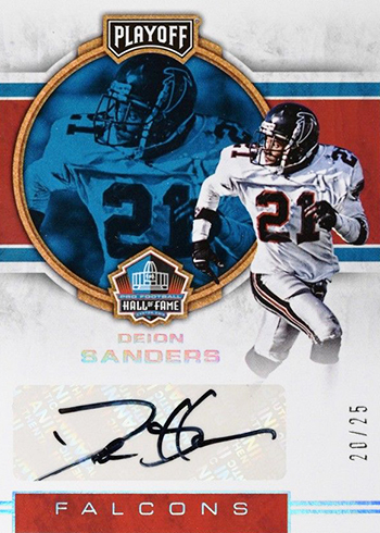 2017 Playoff Football Hall of Fame Autographs Deion Sanders