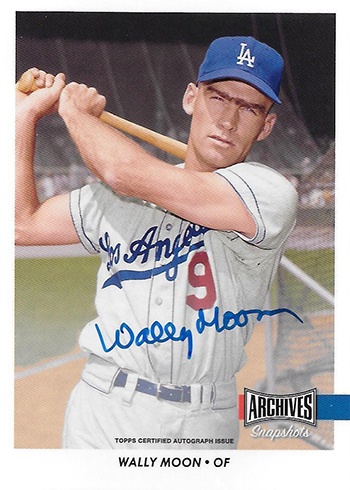 2017 Topps Archives Snapshots Baseball Wally Moon Autograph