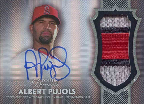 2017 Topps Dynasty Baseball Albert Pujols Patch Autograph