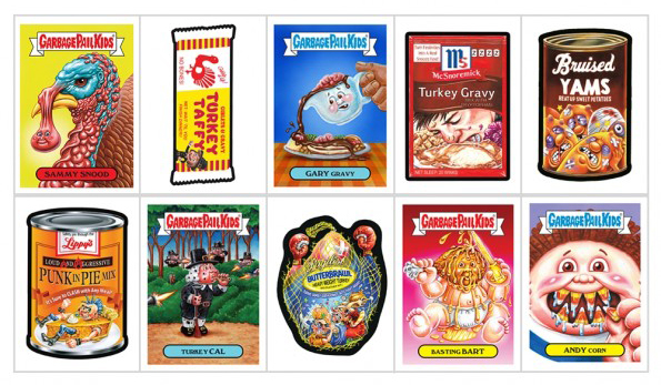 2017 Topps GPK/Wacky Packages Thanksgiving Set