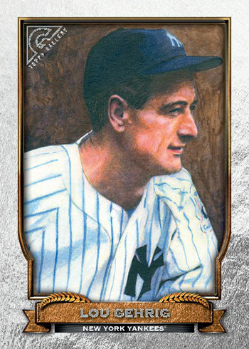 2017 Topps Gallery Baseball Hall of Game Gallery Lou Gehrig