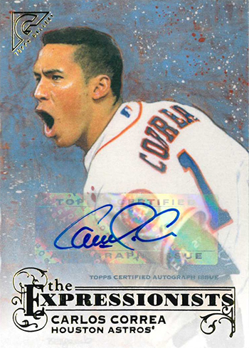 2017 Topps Gallery Baseball The Expressionists Autographs Carlos Correa