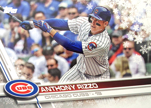 2017 Topps Holiday Baseball Anthony Rizzo