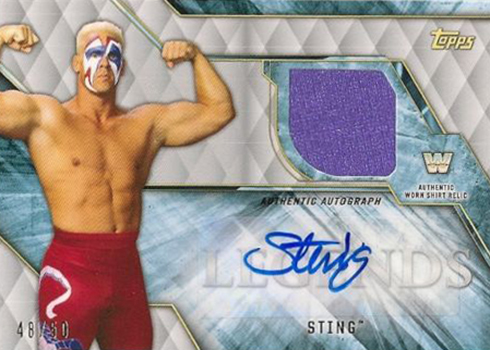 2017 Topps Legends of WWE Autograph Shirt Relics Sting