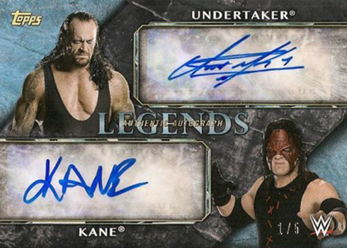 2017 Topps Legends of WWE Dual Autograph Undertaker and Kane