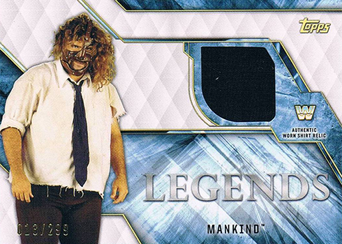 2017 Topps Legends of WWE Shirt Relics Mankind