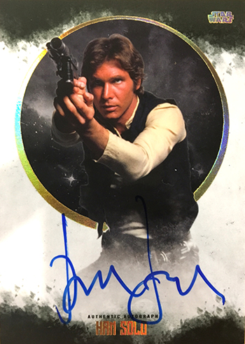 2017 Topps Star Wars Stellar Signatures Harrison Ford Autograph