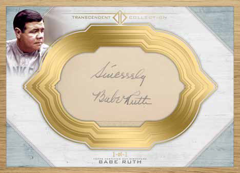 2017 Topps Transcendent Baseball Cut Signature Babe Ruth