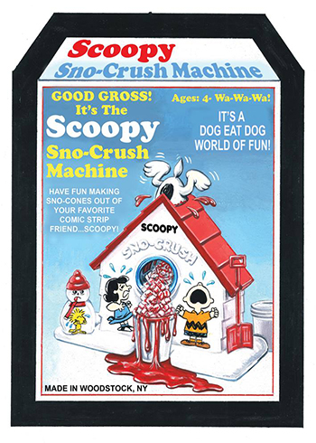 2017 Topps Wacky Packages Old School 6 Scoopy Sno-Crush Machine