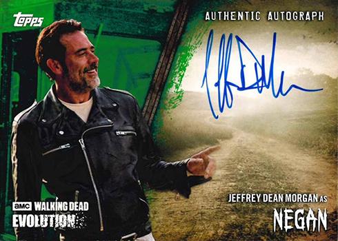 2017 Topps Walking Dead Evolution Jeffrey Dean Morgan Autograph Green