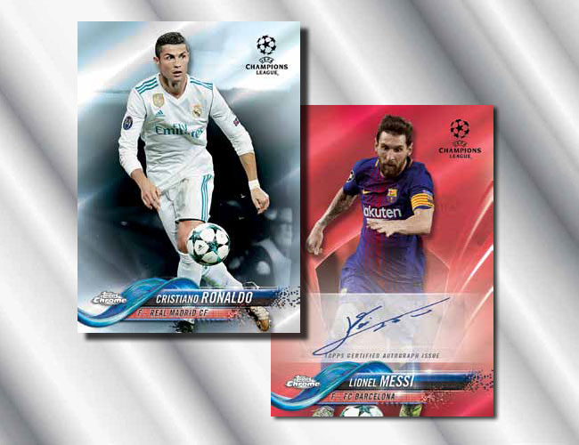 2017-18 Topps Chrome UEFA Champions League lightning strike Gareth Bale