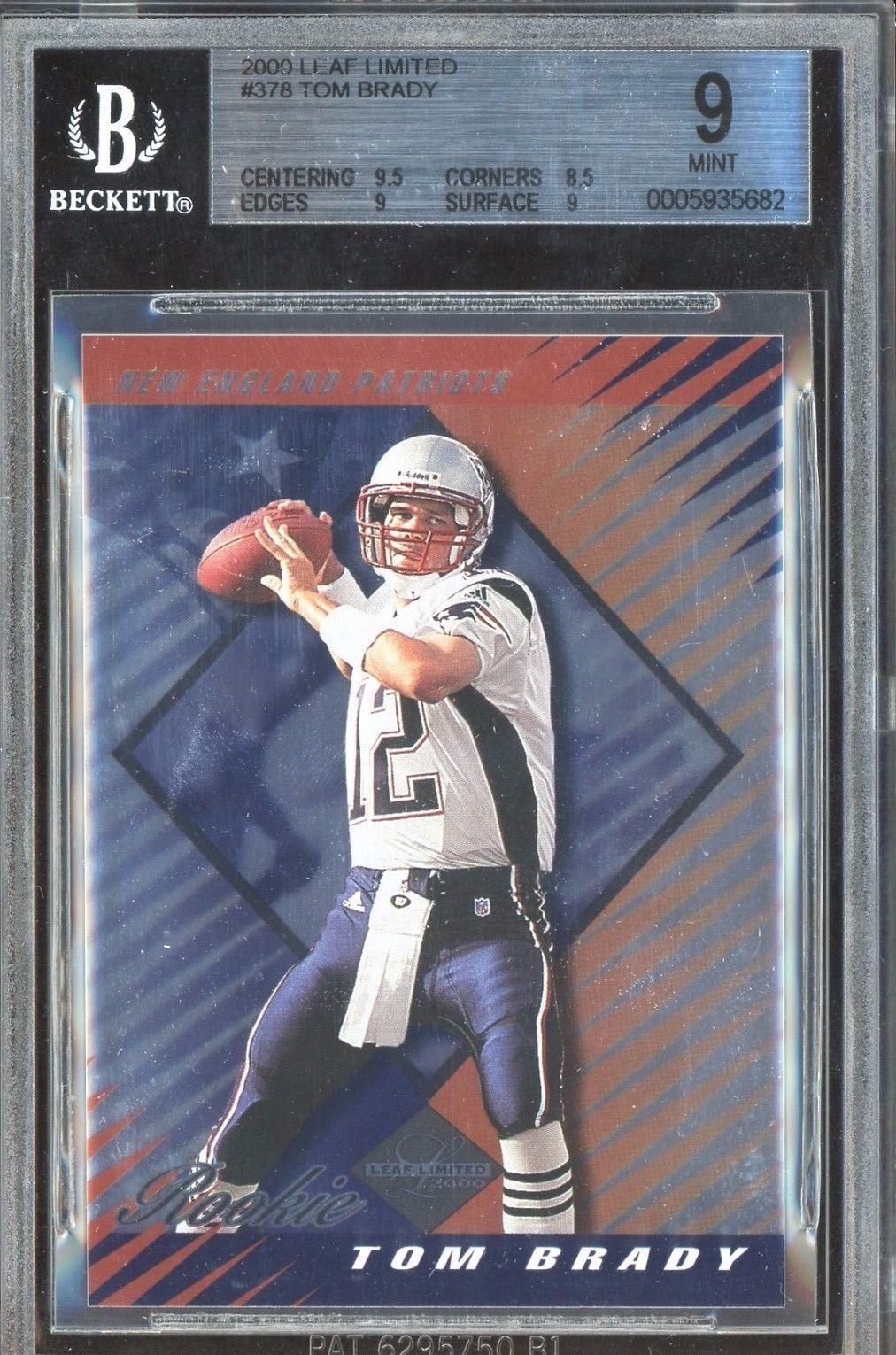 2000 Contenders Championship Ticket Tom Brady Autograph Tops 400k