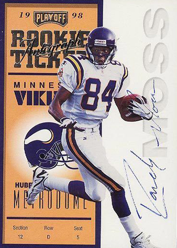 1998 Playoff Contenders Randy Moss Rookie Ticket Autograph