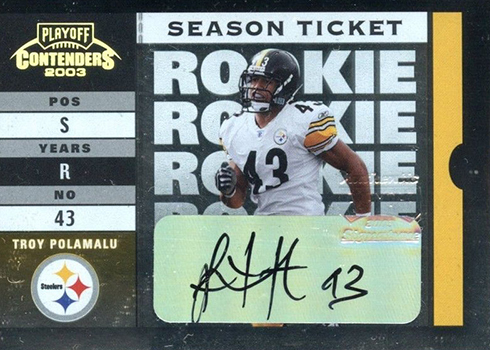 purchase cheap b3436 4e8e3 25 Most Valuable Contenders Football Rookie Ticket Autographs