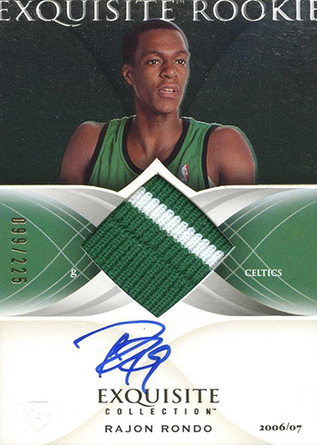 2006-07 Upper Deck Exquisite Rajon Rondo RC Auto Patch 225