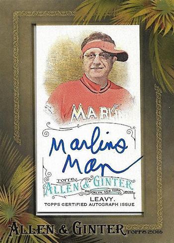 2016 Topps Allen and Ginter Marlins Man Autograph