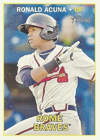 2016 Topps Heritage Minors Ronald Acuna