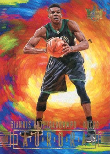 2017-18 Panini Court Kings Basketball Aurora Giannis Antetokounmpo