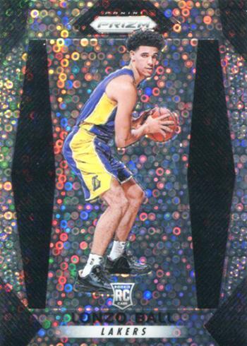 2017-18 Panini Prizm Basketball Prizms Fast Break Lonzo Ball