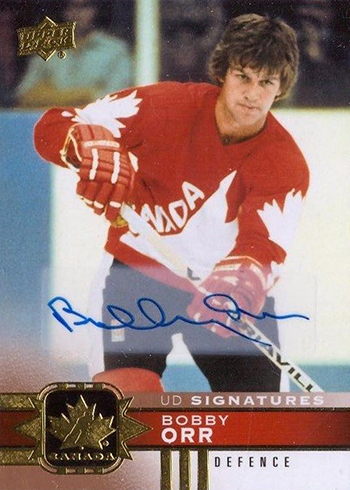 2017-18 Upper Deck Canadian Tire Team Canada Hockey Gold Foil Signatures Bobby Orr