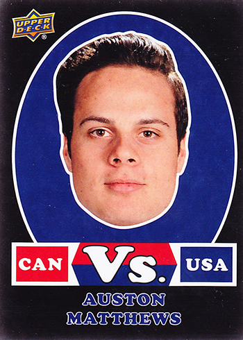 2017-18 Upper Deck Canadian Tire Team Canada Hockey Vs Black Auston Matthews