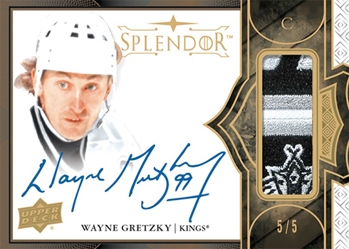 2017-18 Upper Deck Splendor Hockey Base Bordered Gold