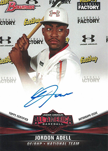2017 Bowman Draft Baseball All America Autographs Jordon Adell