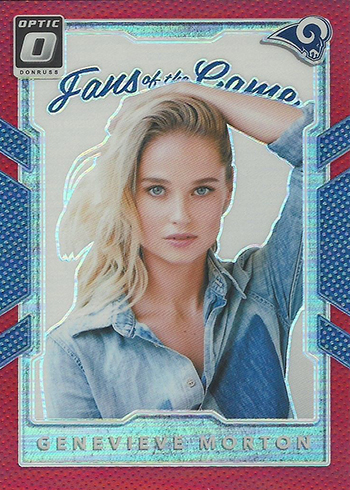 2017 Donruss Optic Football Fans of the Game Red Genevieve Morton