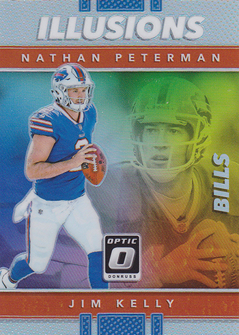 2017 Donruss Optic Football Illusions Nathan Peterman Jim Kelly