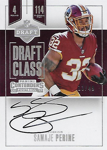 c6e56751c 2017 Panini Contenders Football Autographs Checklists. Draft Class  Autographs RPS Checklist. 40 cards.