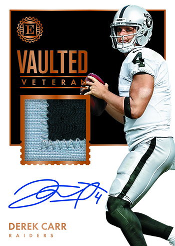 b8c018d17 Not everything in 2017 Panini Encased Football is rookie-focused. Vaulted  Veteran Material Signatures bring in current stars while Legendary Swatch  ...