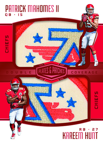 2017 Panini Plates and Patches Football Double Coverage
