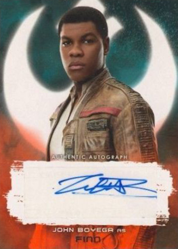 2017 Topps Star Wars The Last Jedi Autographs Red John Boyega