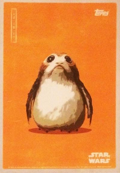 2017 Topps Star Wars The Last Jedi Fan Event Porg