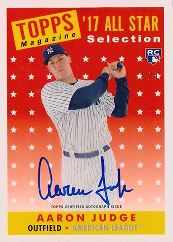 2017 Topps Transcendent Baseball Aaron Judge Topps History AJ-58AS