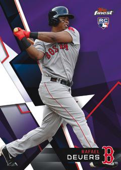 2018 Topps Finest Baseball Purple Refractor