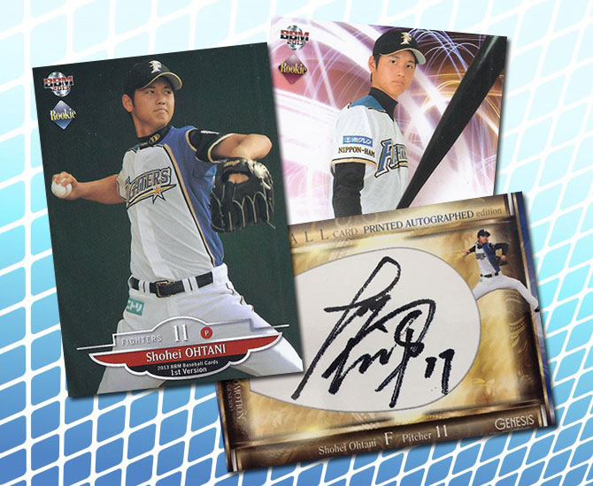 los angeles c9b08 33f0c Shohei Ohtani Japanese Rookie Cards Gallery and Guide