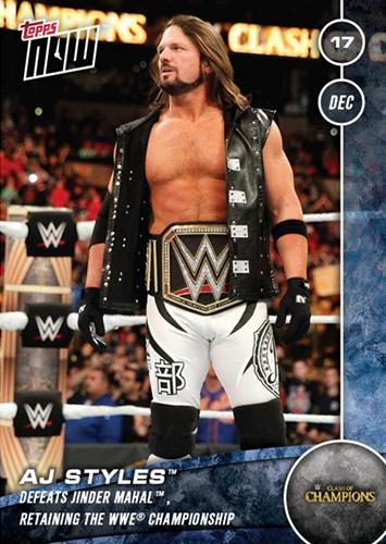 Print Run 73 Fastlane 2017 Topps NOW WWE 68 Neville