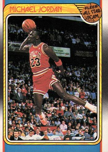 size 40 28aea f5aa2 1988-89 Fleer Michael Jordan AS 120