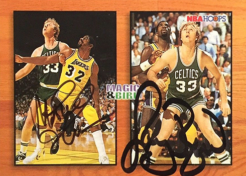 1993-94 Hoops Larry Bird Magic Johnson Autograph