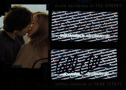 2008 Inkworks X-Files I Want to Believe David Duchovny Gillian Anderson Dual Autograph
