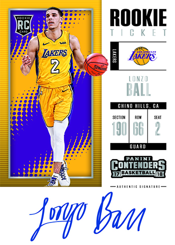 2017-18 Panini Contenders Basketball Rookie Ticket Autograph Ball