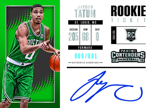 2017-18 Panini Contenders Basketball Rookie Ticket Autograph Variation
