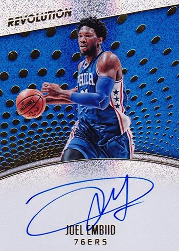 2017-18 Panini Revolution Basketball Autographs Joel Embiid
