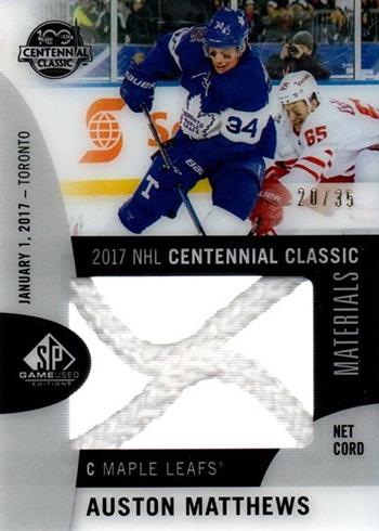 2017 NHL Centennial Classic Material Net Cord Checklist 22428467b